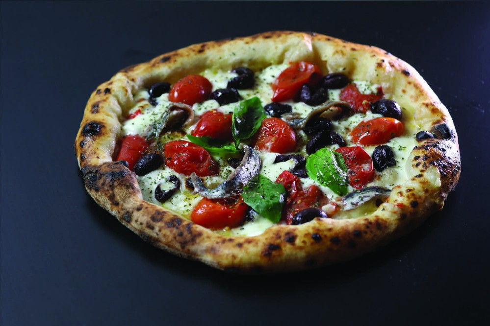 "All Mediterranean flavours in one pizza: ""Sole nel piatto"" (""Sun in dish""). – © Damiano Errico"