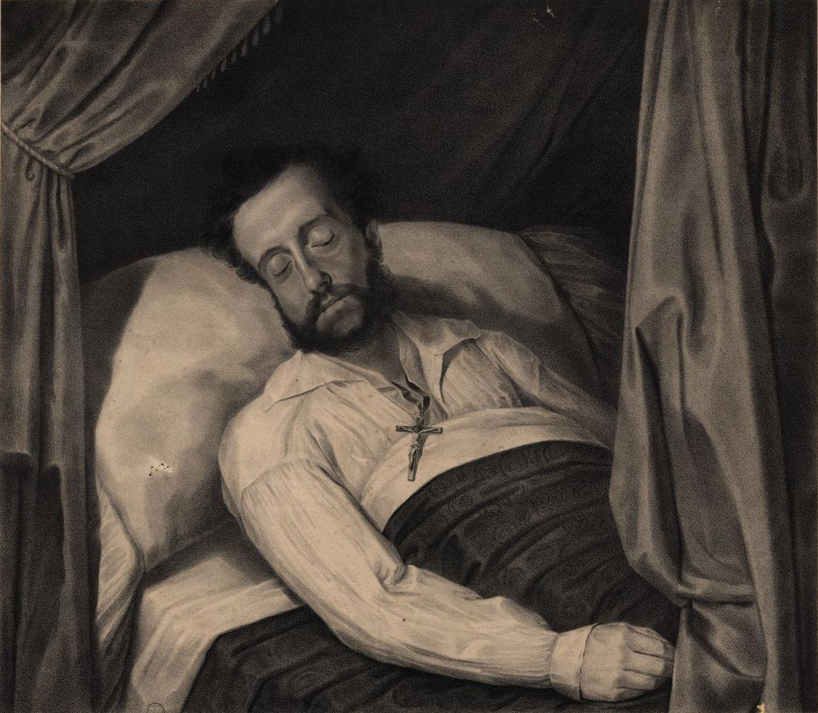 Pedro on his deathbed in 1834, by José Joaquim Rodrigues Primavera