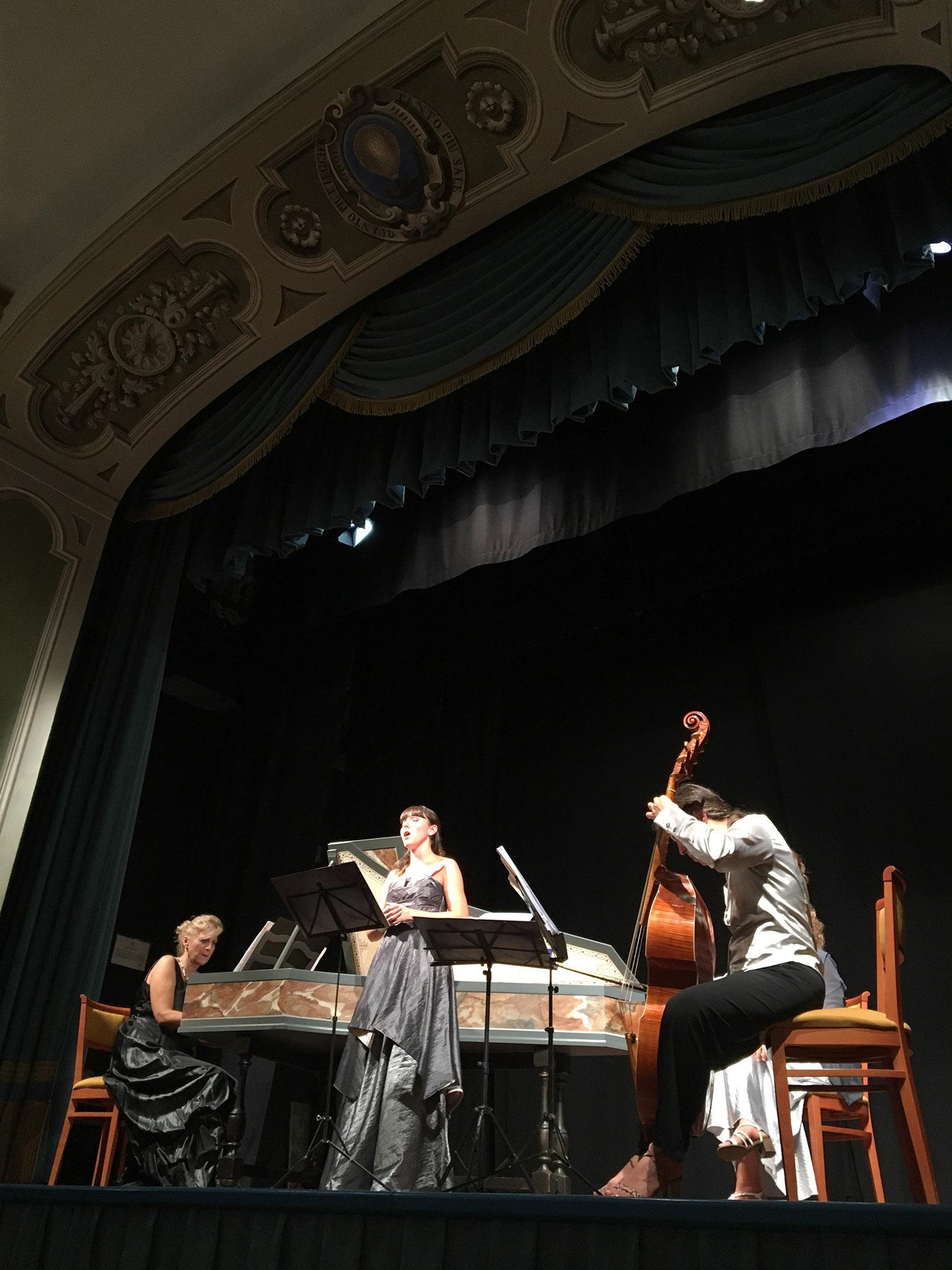 A concert during the Baroque festival organised by the Accademia dei Leggieri in Teatro dei Leggieri in September. - © Carolina Taddei