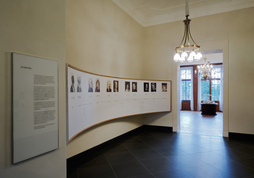 The historical Krupp exhibition in the Small House of Villa Hügel encompasses several topics. – © Michael Rasche / Krupp Historical Archive