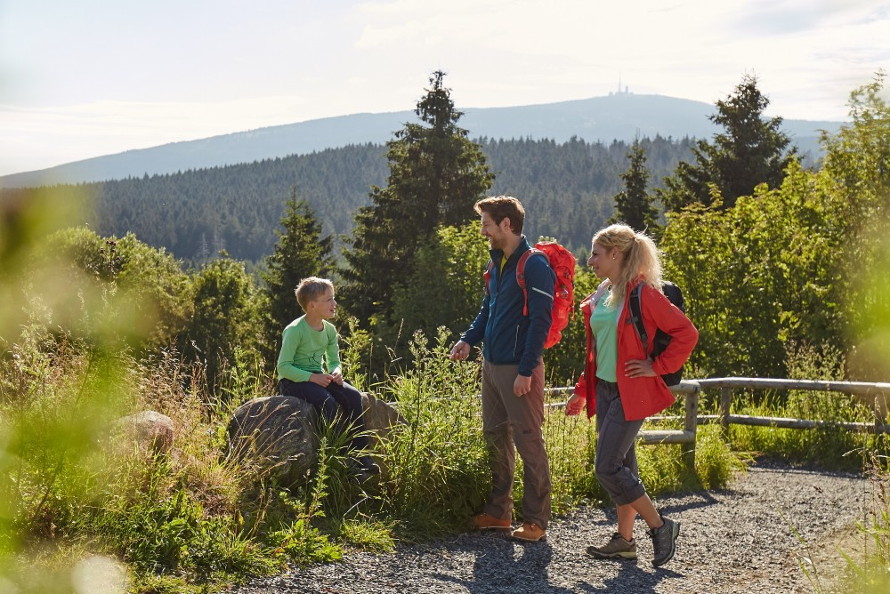 The densely-forested region of Torfhaus contains numerous hiking trails, many of them also recommended for families and children. – © M. Gloger / Harzer Tourismusverband