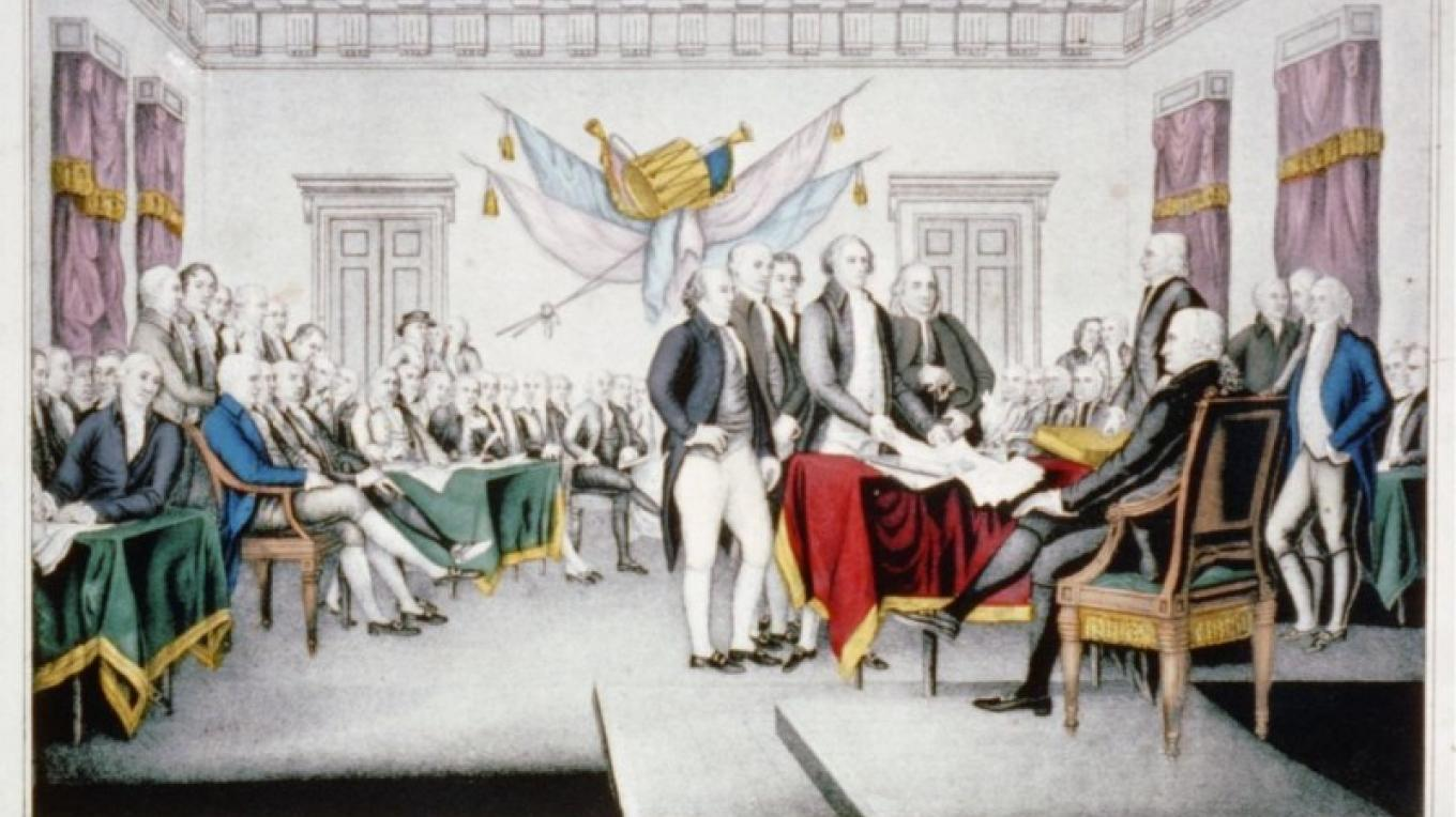 Signing of the Declaration of Independence, Courier Ives – Library of Congress