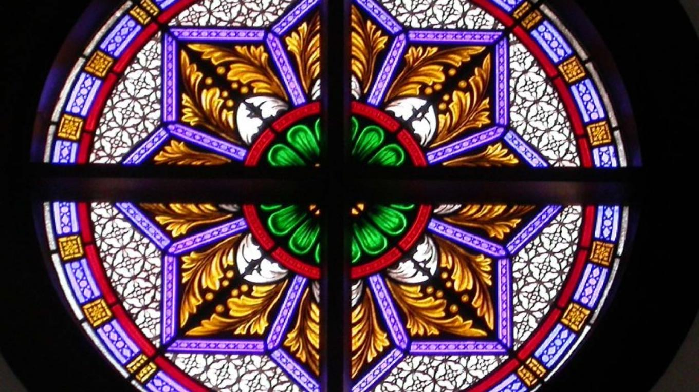 Rosette window (lite at night) – Glenn Estus