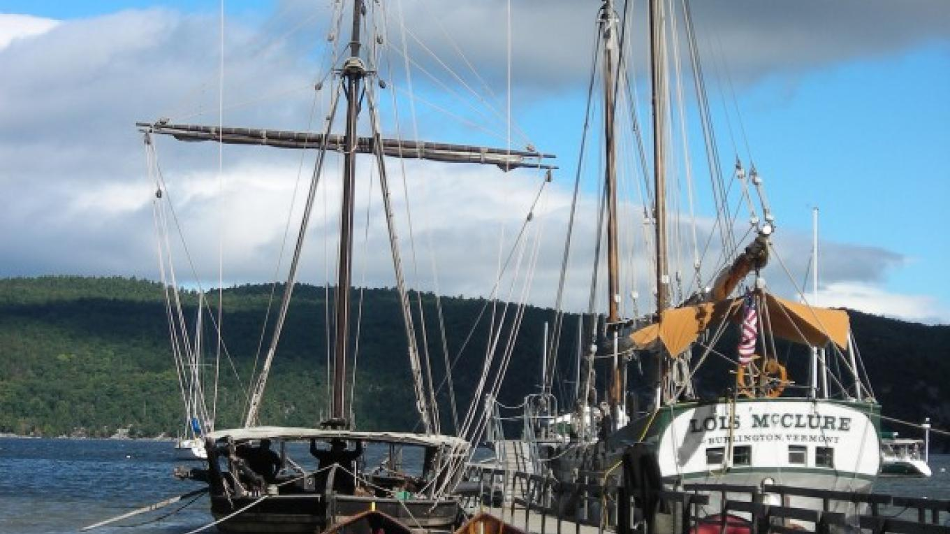 Located on the shore of scenic Lake Champlain, LCMM welcomes visitors aboard replica 1776 gunboat and 1862 canal schooner. – Lake Champlain Maritime Museum