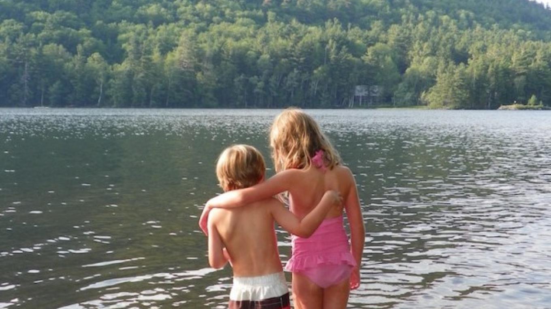 Enjoying a sibling moment at Garnet Lake after Hiking Crane Mtn – Frank Falcone