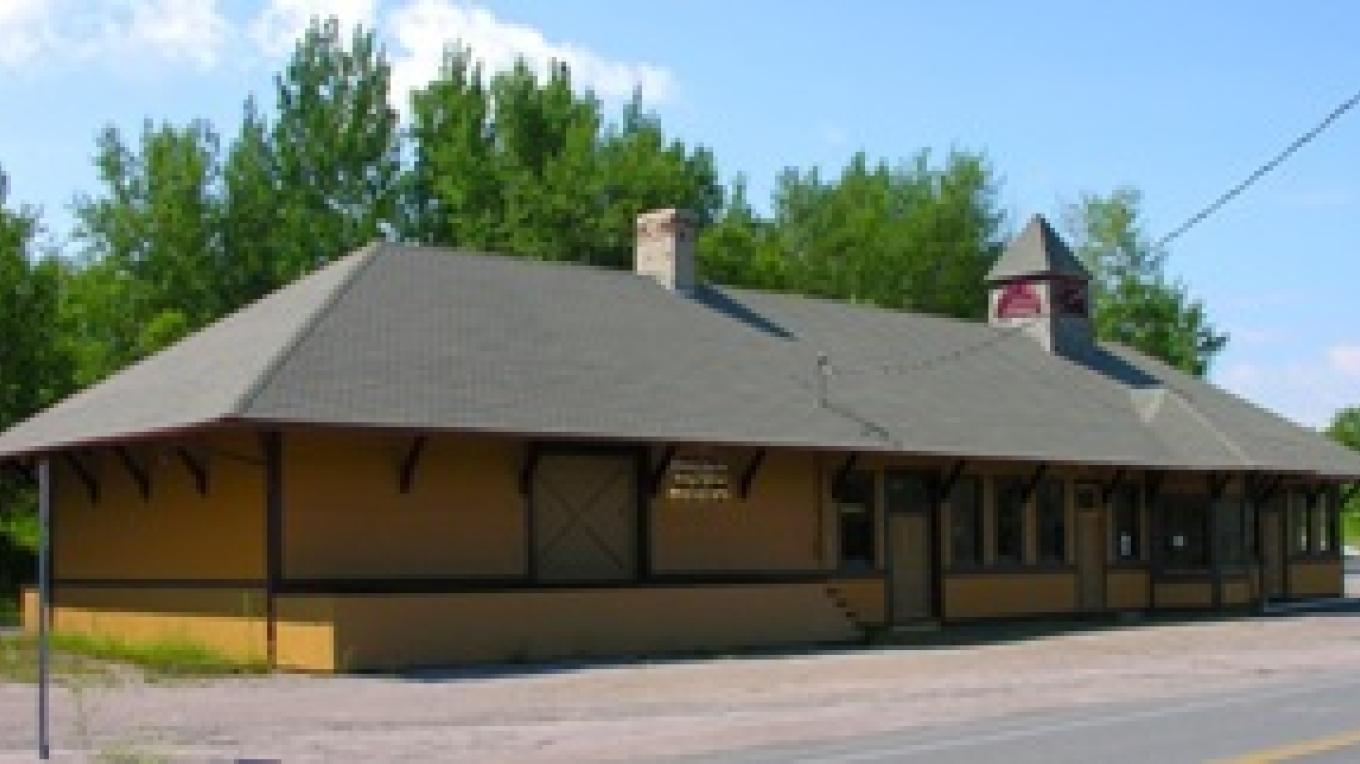 The D&H Railroad Station in Lyon Mountain.  It houses the Mining and Railroad Museum.