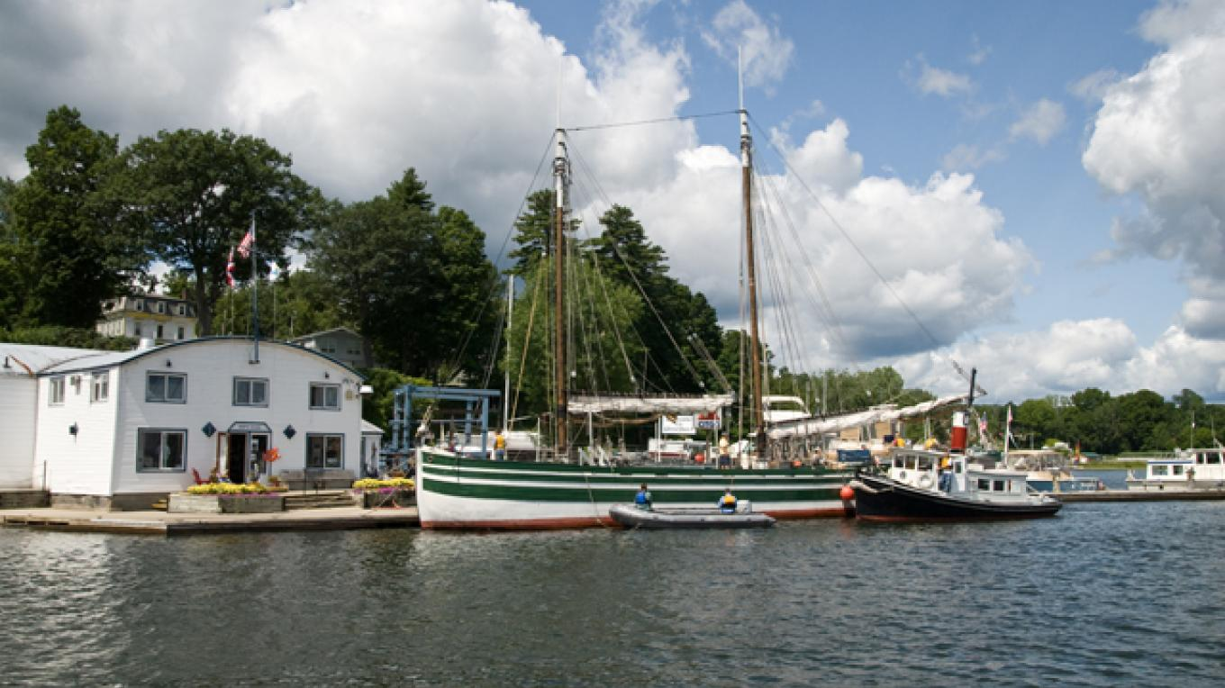 The Lois McClure at the Westport Marina – Dee Carroll