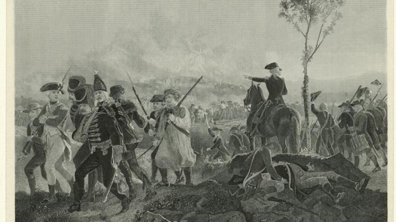 Print of the Battle of Bennington [Vermont], 1777 – New York Public Library Digital Collection
