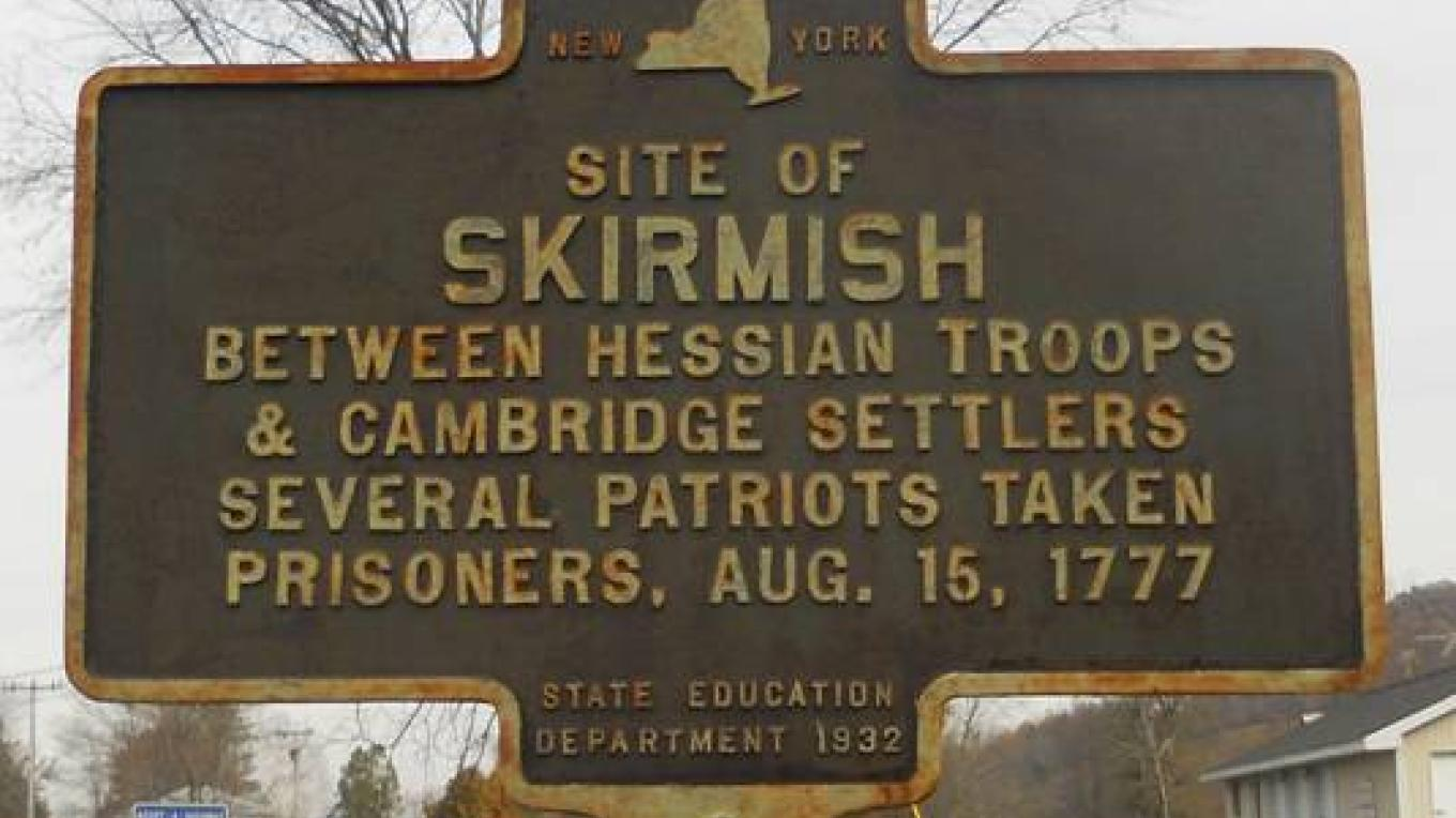 Note that the date is wrong. The skirmish was actually two days earlier on August 13th. – Charles Filkins