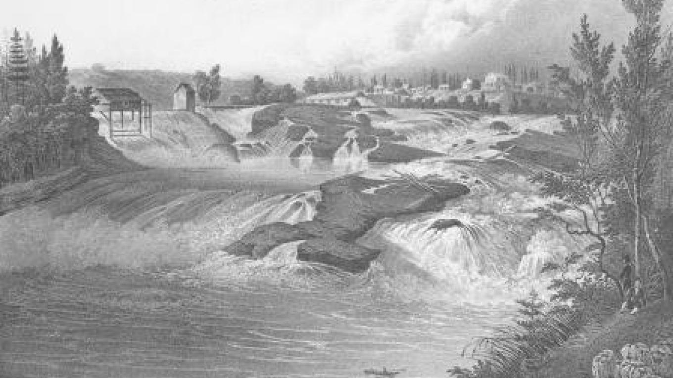 Baker's Falls on the Hudson River – Fort Edward Historical Society