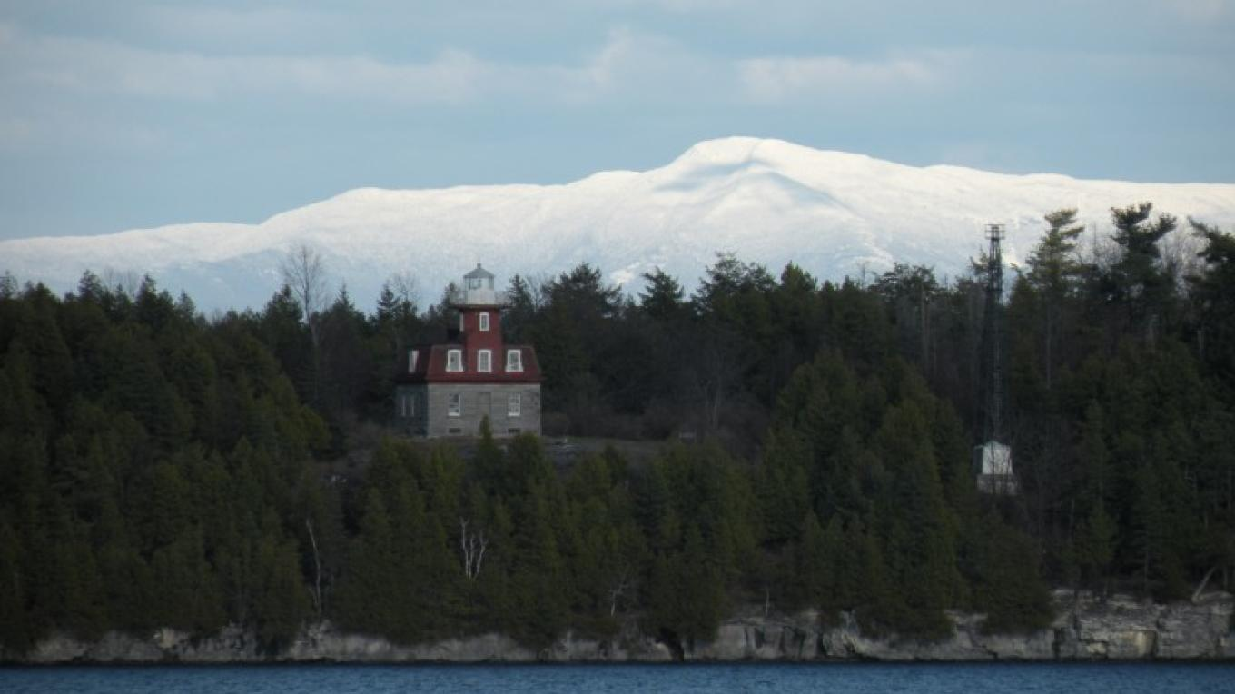 Lake View of Bluff Point Lighthouse at Valcour Island. – Roger Harwood