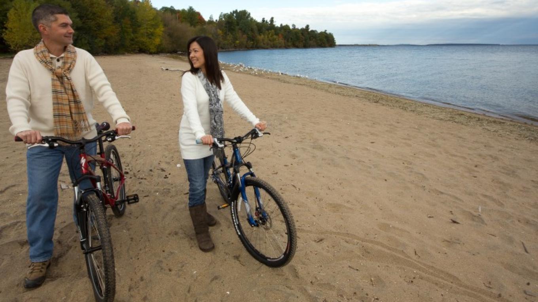 Biking along Port Kent Beach – Adirondack Coast Visitors Bureau