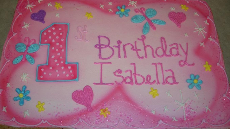 1/2 sheet cake