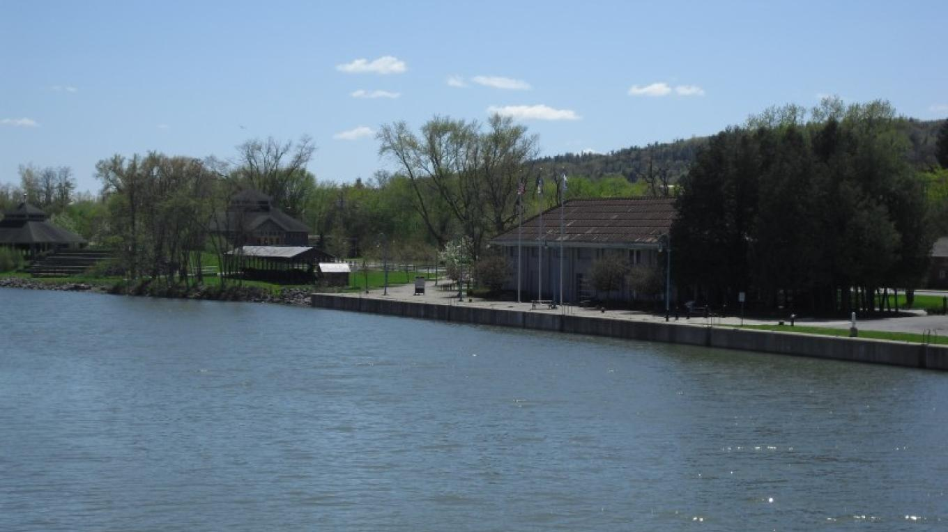 View of Canal Harbor Park including the Skenesborough Museum from across the canal. – Drew Alberti