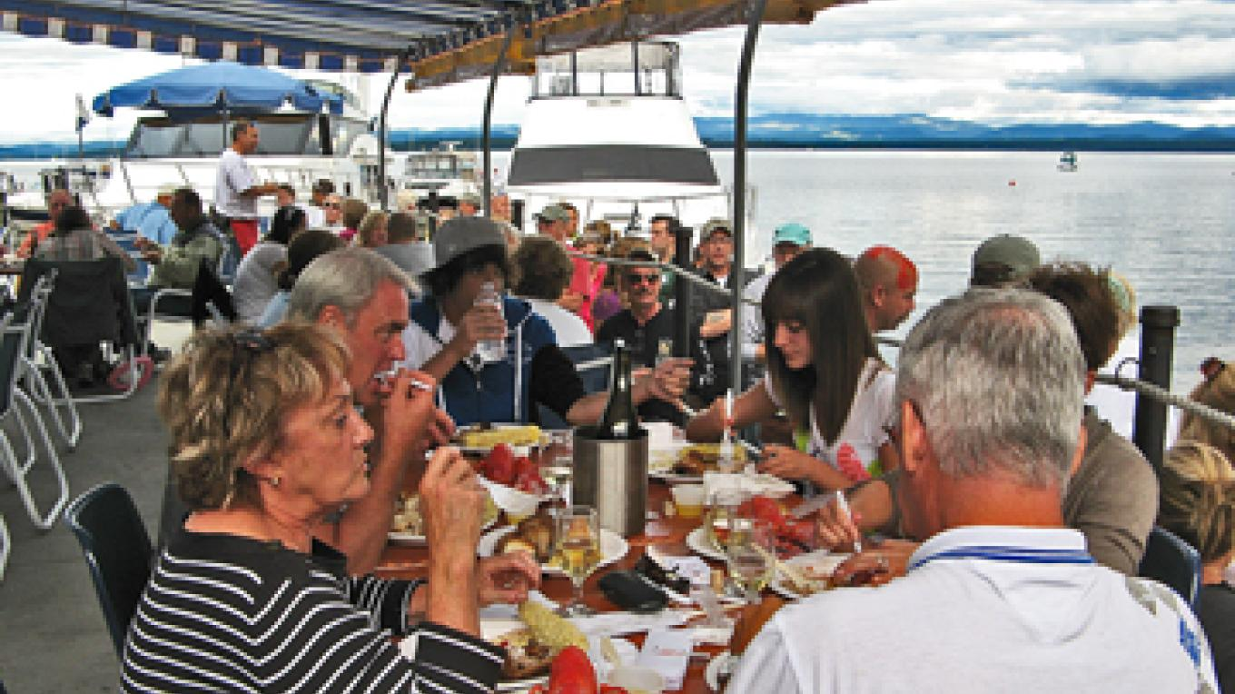 Lobsterfest feasting – Dee Carroll