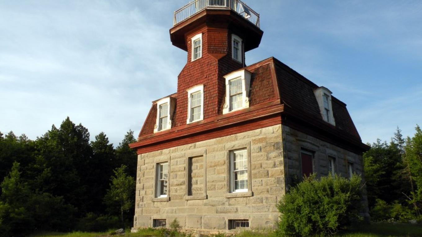 Bluff Point Lighthouse at Valcour Island. – Roger Harwood
