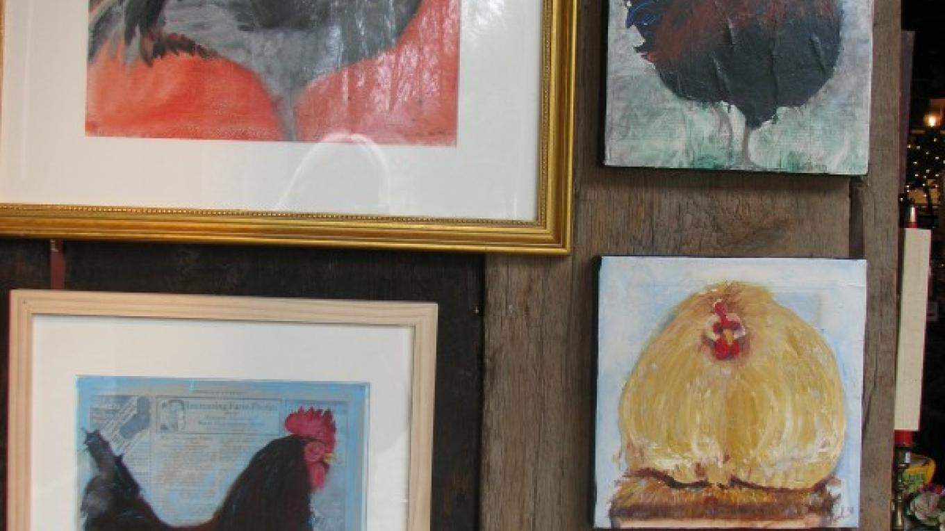 Leah McCloskey's Chickens in rare form! – Sue Clary