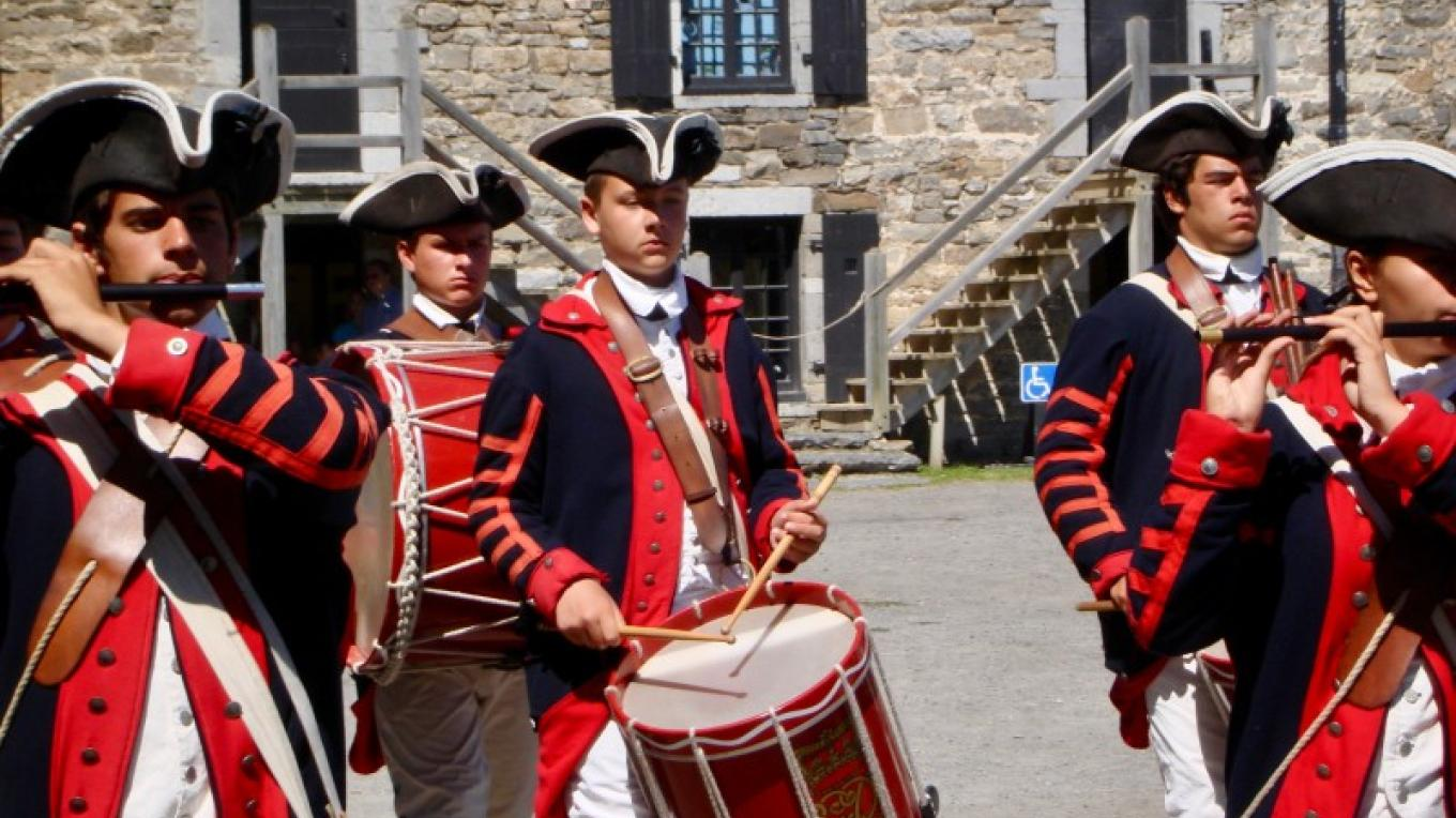 The fife and drums of Fort Ti. – Courtesy of Cathy Frank