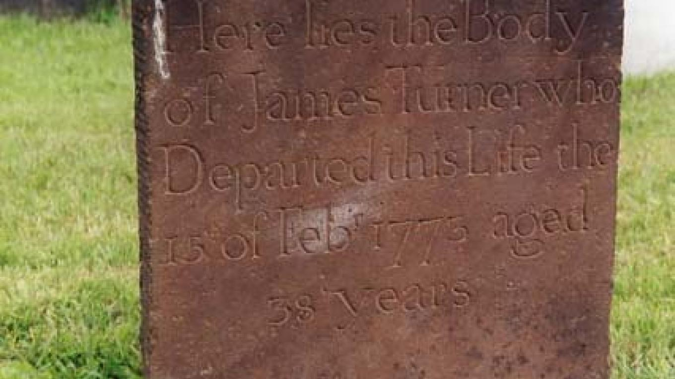 James Turner tombstone – William Cormier