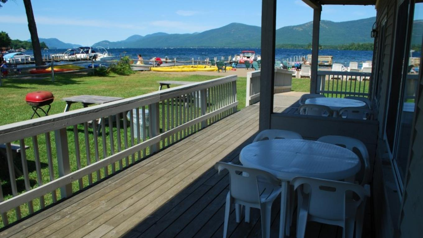 Golden Sands on Lake George lakeside room view