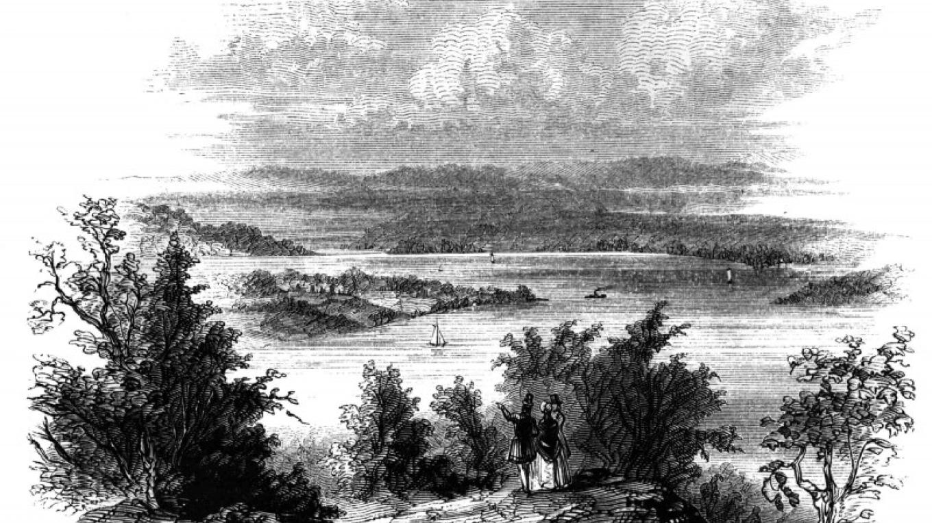 View from Mount Defiance – Lossing Pictorial Fied Guide of the American Revolution