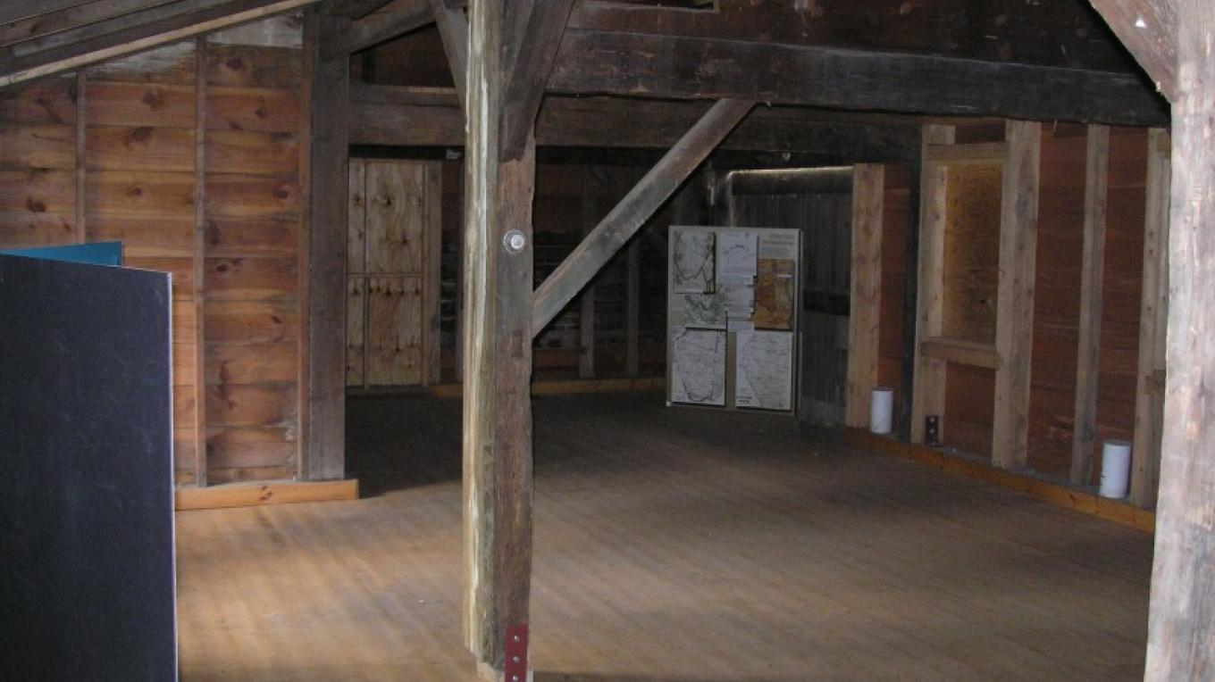 Back room (old blacksmith's shop) after clean up but before final restoration – unknown