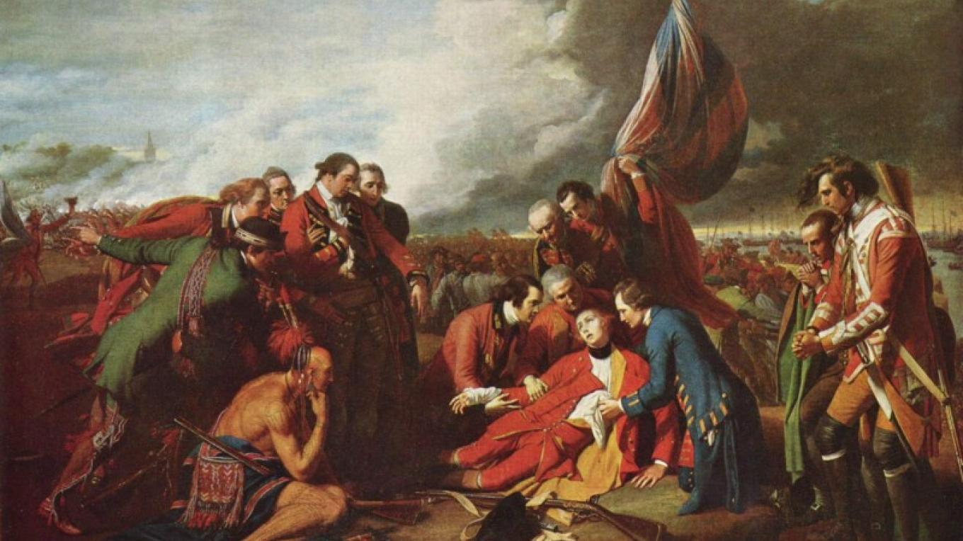 The Death of General Wolfe – Benjamin West Courtesy of Wikimedia