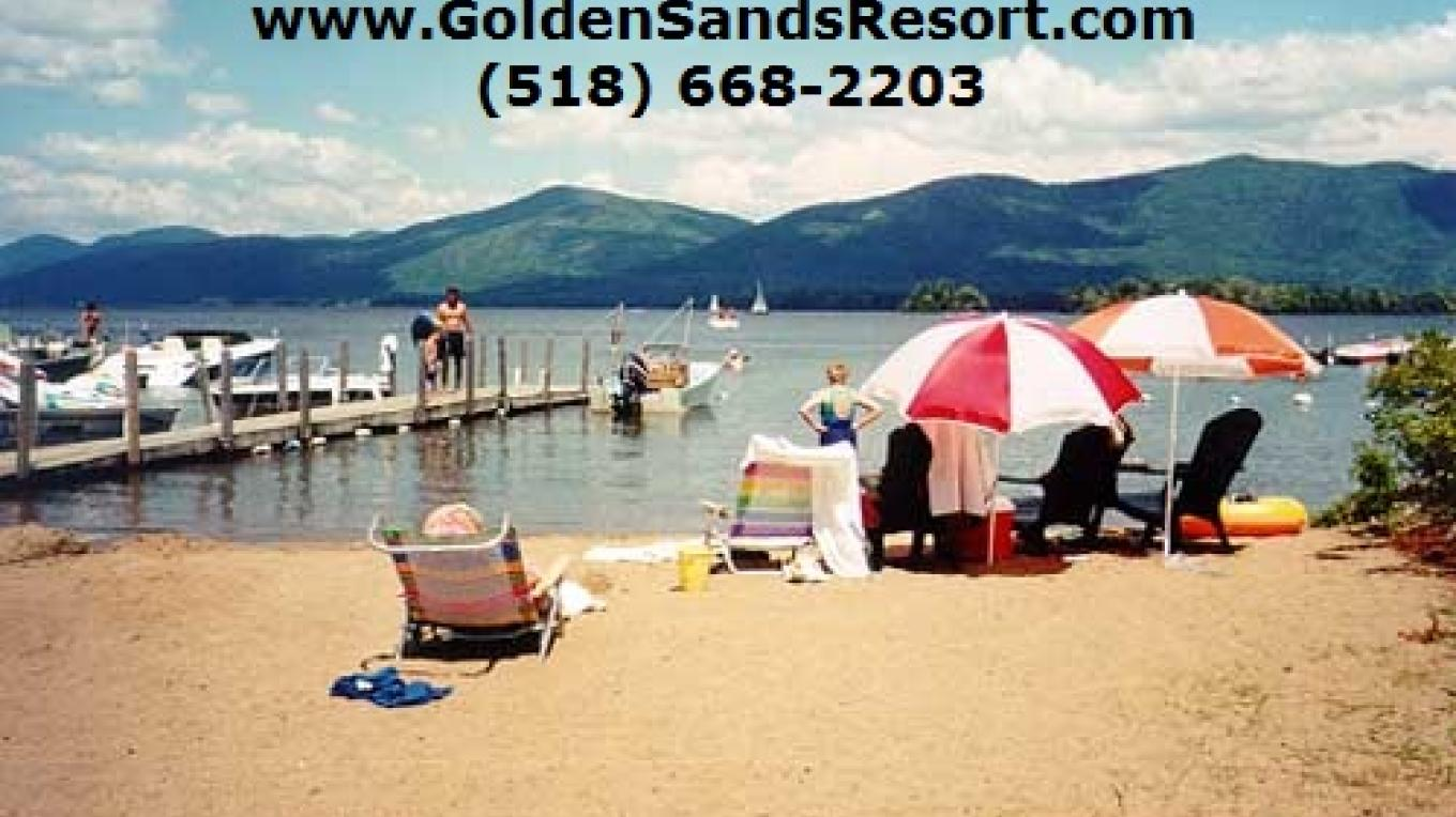 Golden Sands on Lake george natural sand beach