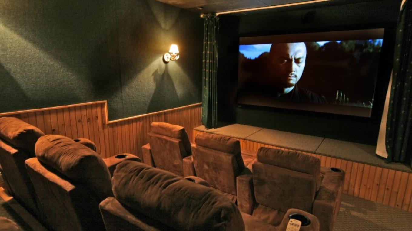 The Lodge has a 9-person theatre to enjoy either tv or a movie.