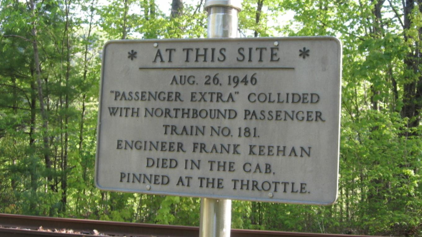The Trainwreck of 1946 marker – Persis Granger