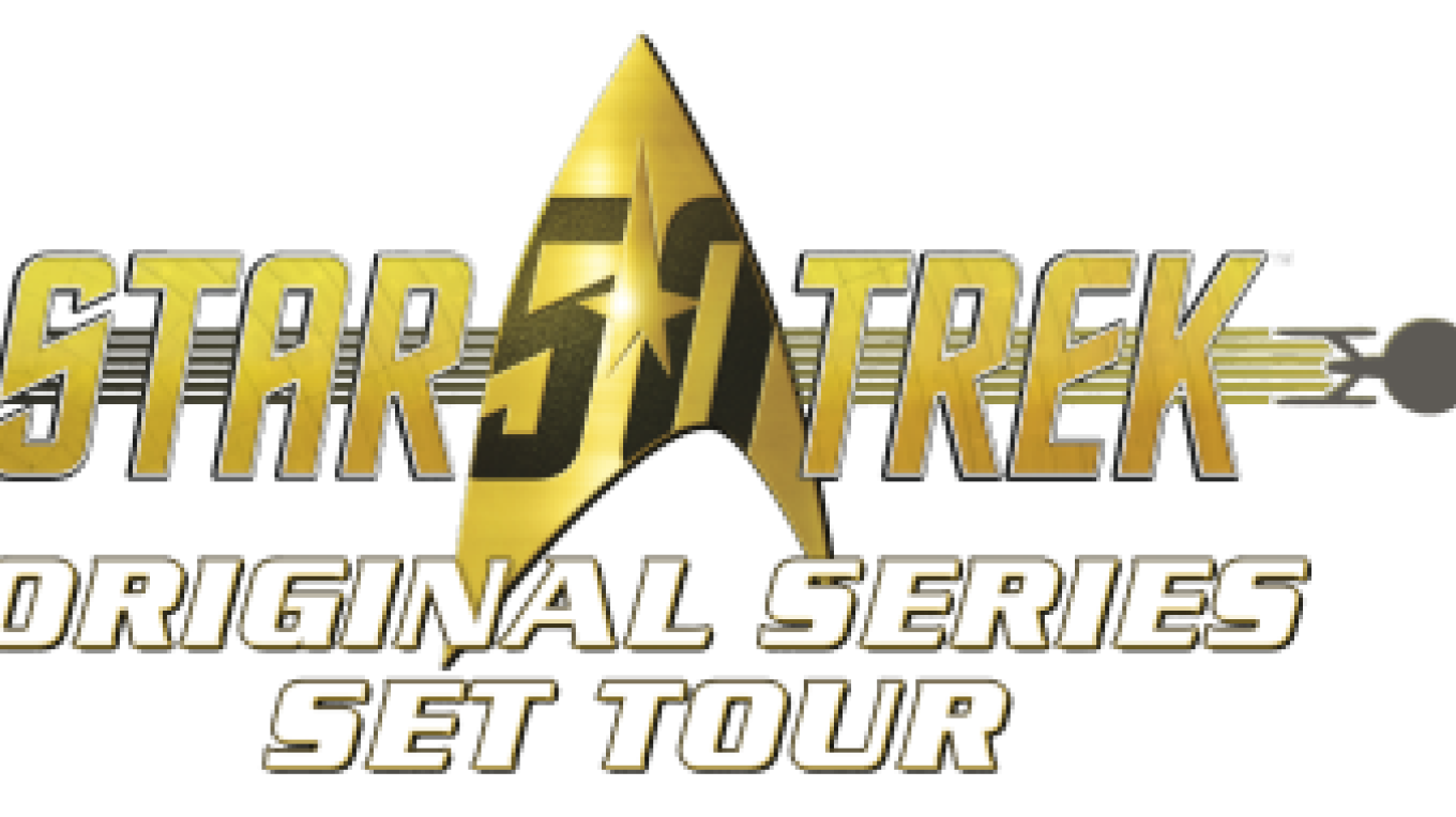 Star Trek Tour logo. – Courtesy of and copyright by Star Trek Original Series set Tour and CBS.
