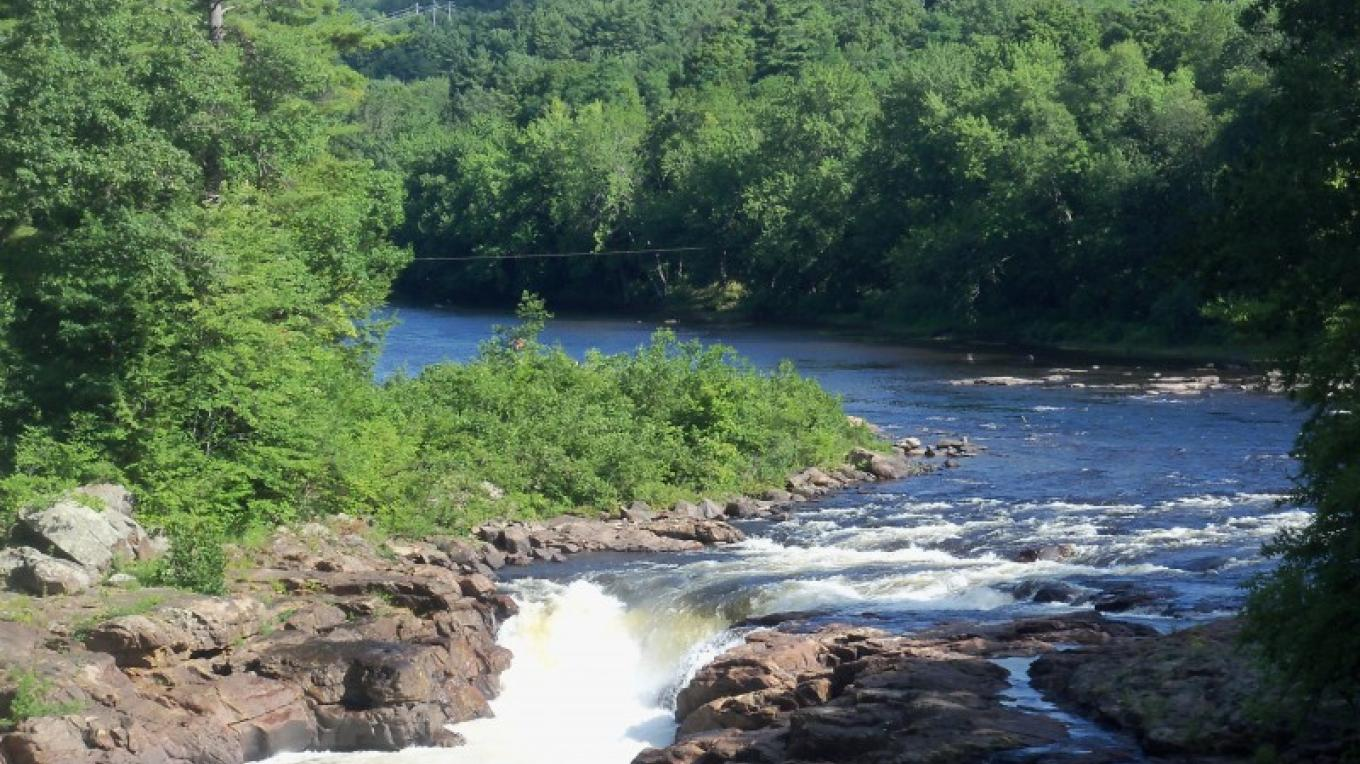 Rockwell Falls from the Bridge of Hope – Pam Morin