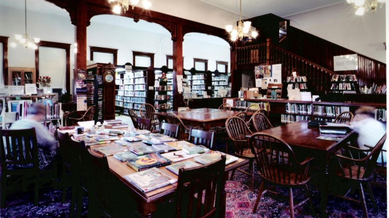 Pember library reading room harkens back to Victorian times. – George Bouret