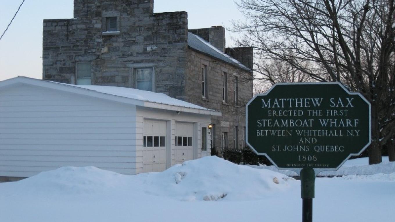 Matthew Sax Historical Marker and House. – Sean Reines