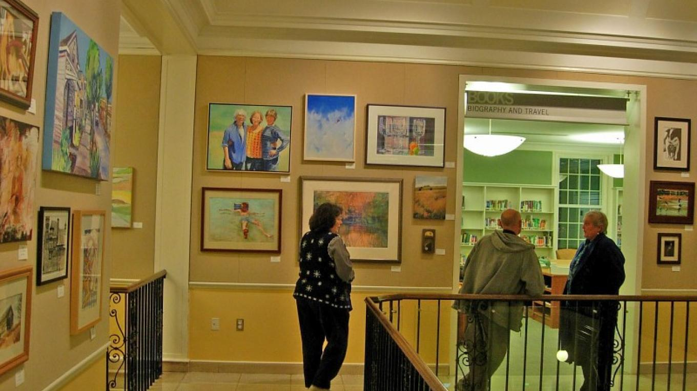 A North Country Arts Center sponsored show at Crandall Public Library's Friends Gallery