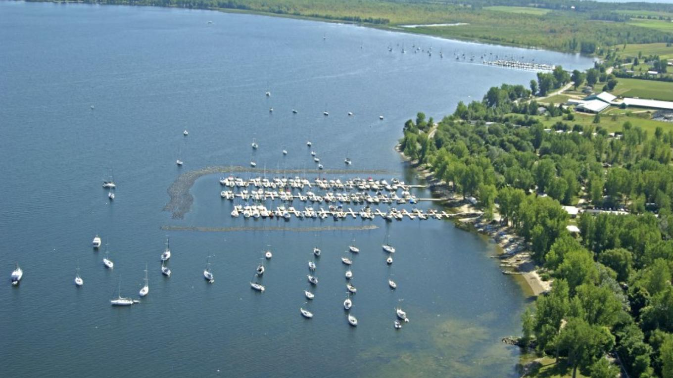 View of Gilbert Brook Marina, with Montys Bay WMA in the background. – © Marinas.com