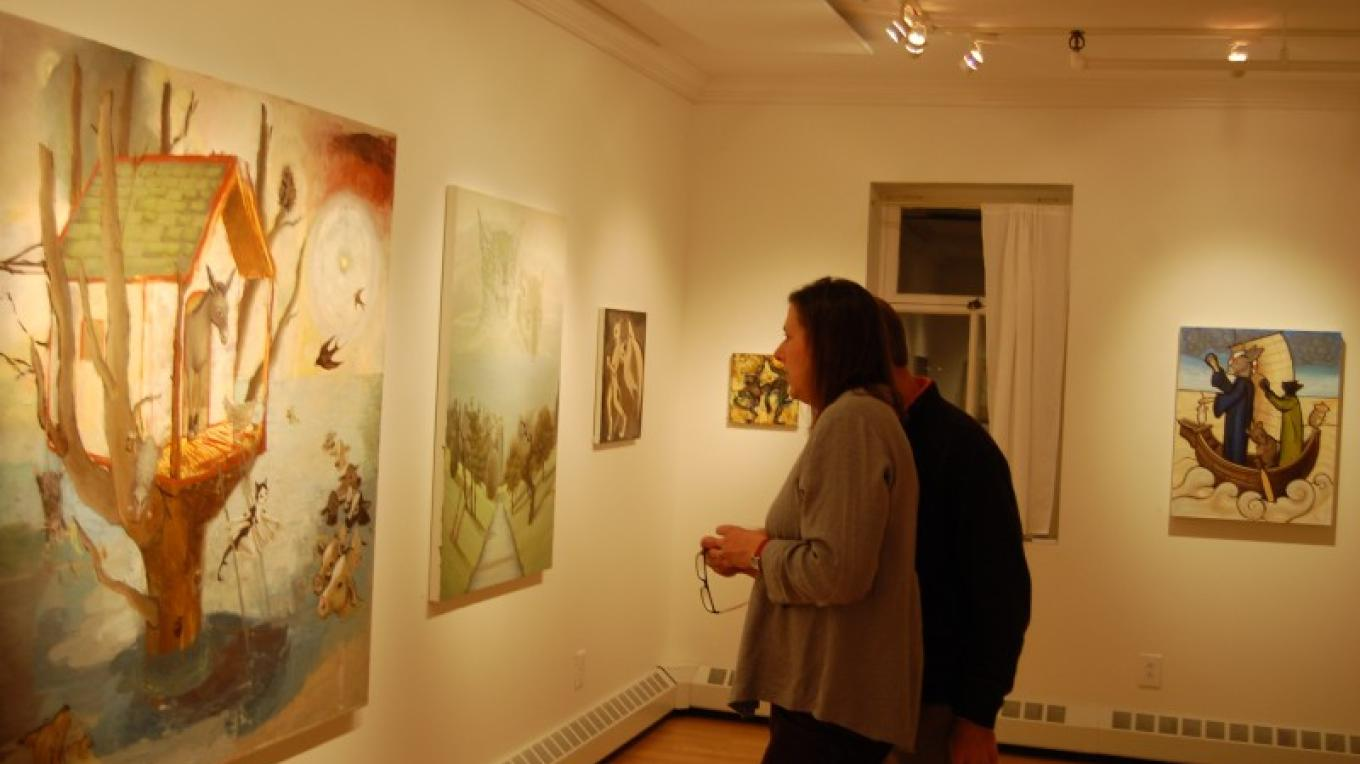 Elizabeth Albert paintings at the Courthouse Gallery