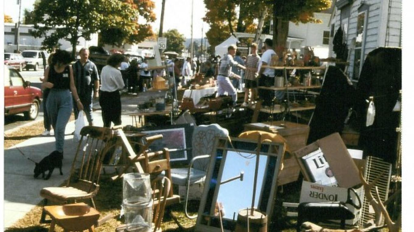 The Annual World's Largest Garage Sale runs from one end of town to the other and attracts 100,000 visitors every year. It's held the weekend before the October holiday weekend. – Margi Mannix