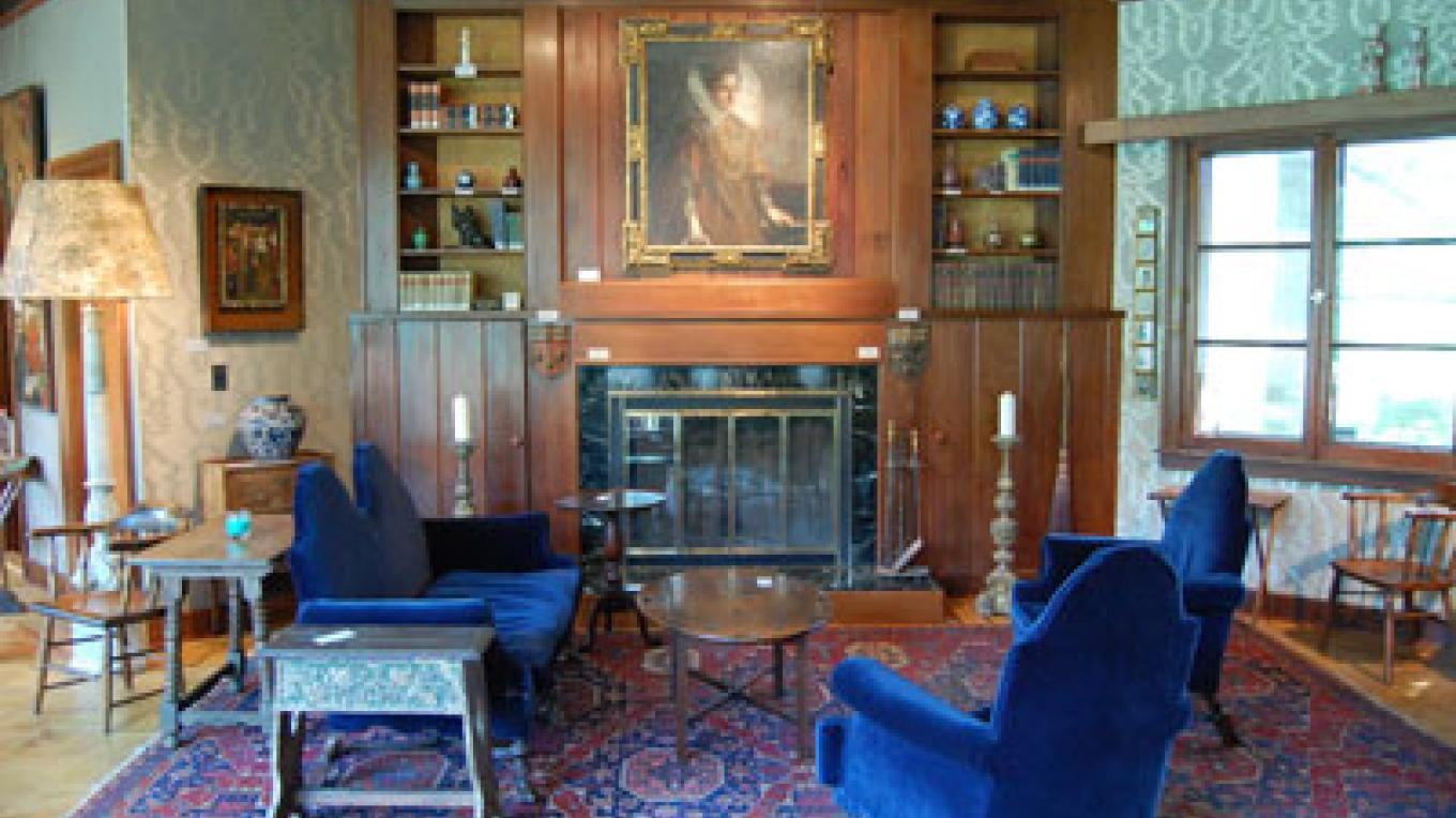 Fireplace and Chairs – Georgi Museum