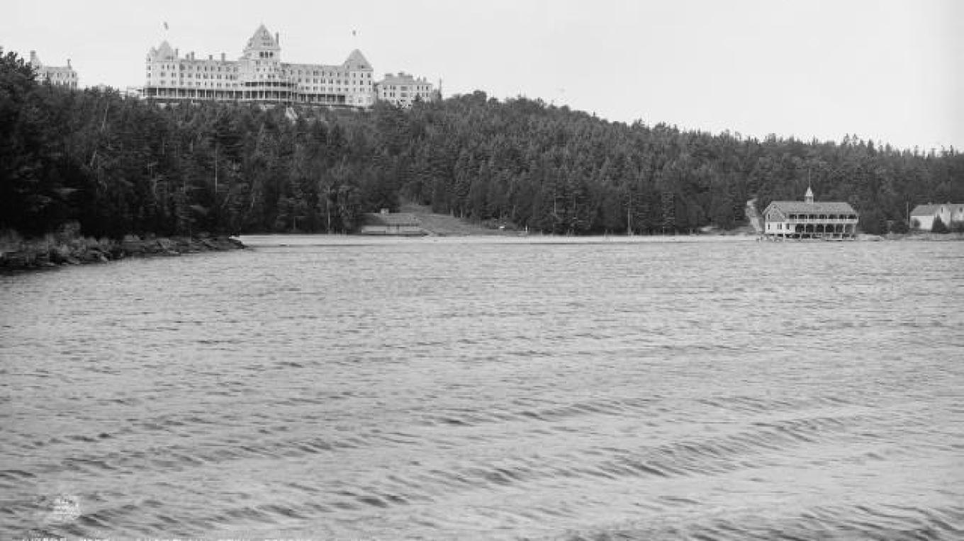 View of Hotel Champlain from the ferry – Adirondack Coast Visitors Bureau