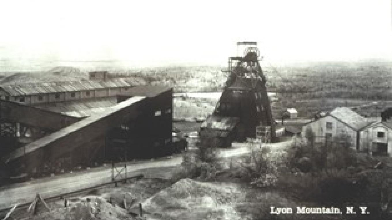 Some mining buildings in Lyon Mountain.
