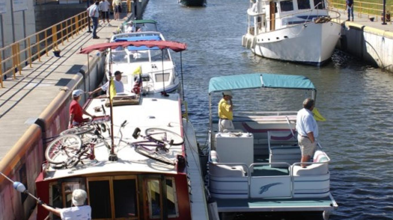 Boats entering Lock C2 – NYS Canal Corporation