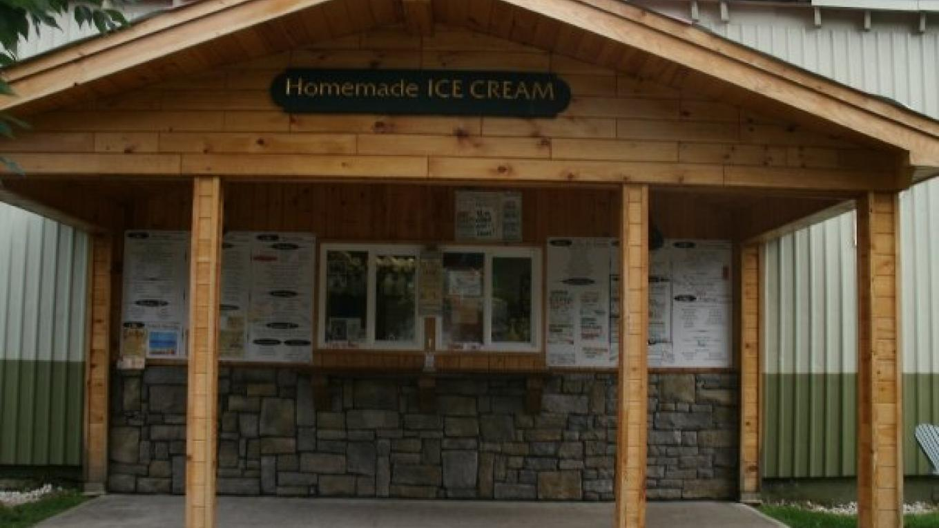Cooper's Cave Ale Company Ice Cream Window