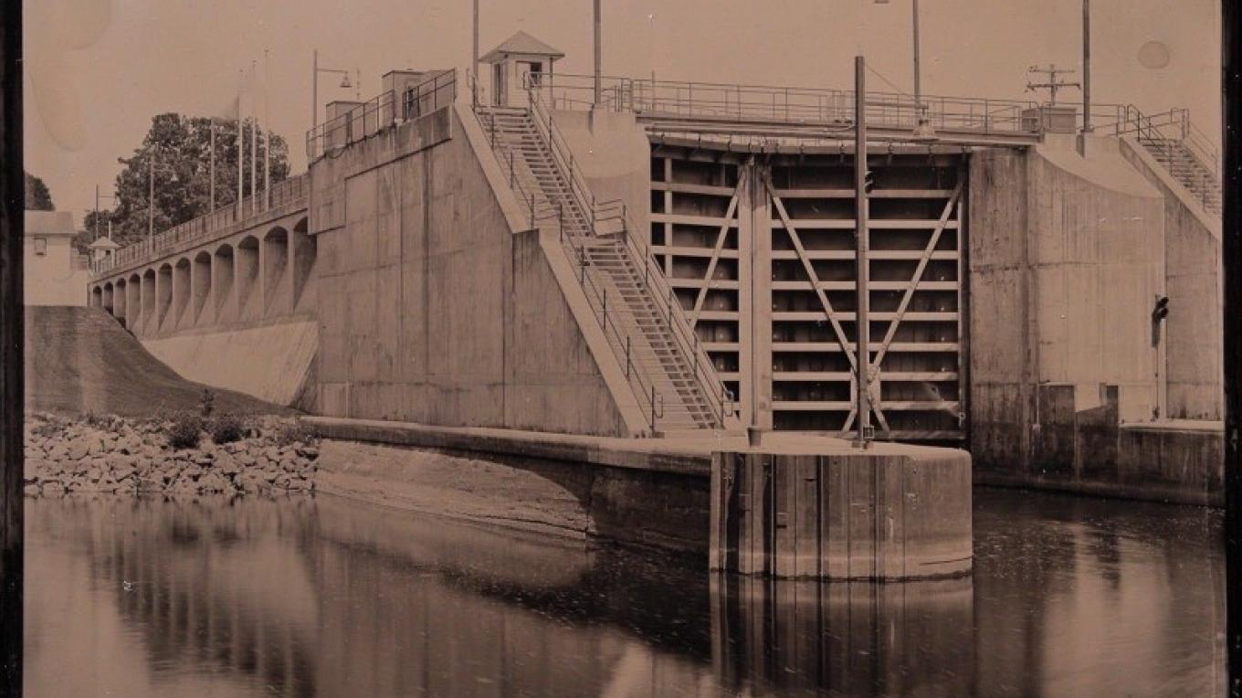 Glens Falls Art Tintype of Waterford NY Erie Canal lock – Craig Murphy Photographer - Glens Falls Art