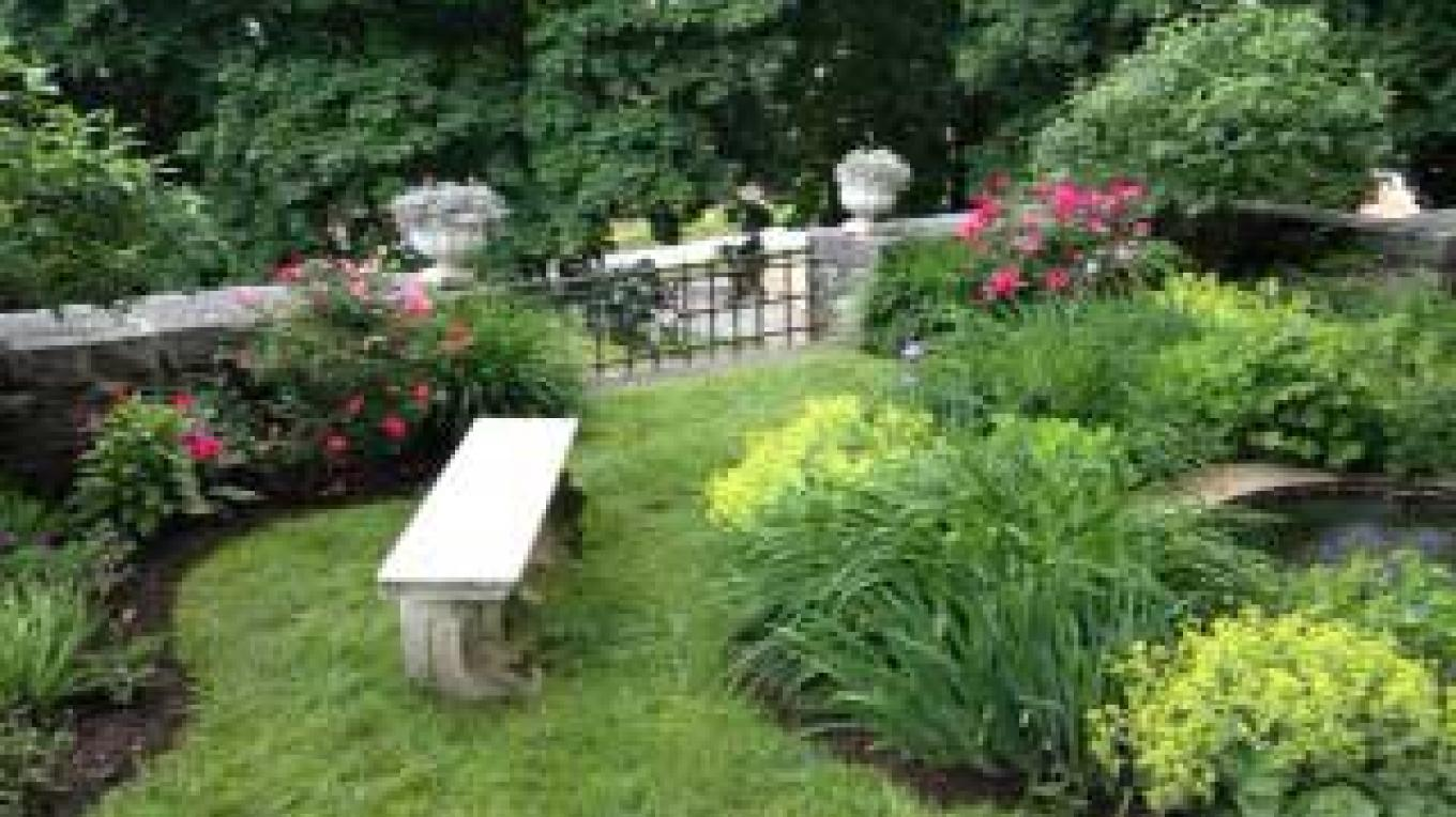 The Butterfly Garden in the rear of Hyde House – Alice Grether