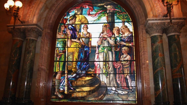 One of the Tiffany windows in the Earl Chapel – Eileen Haldeman