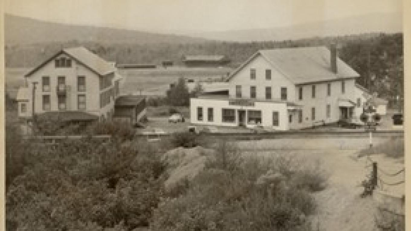 The company store and hotel.