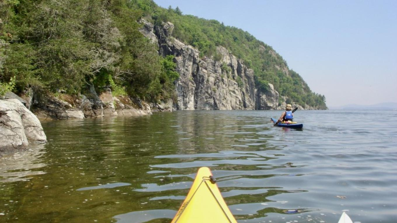 Approaching the Palisades. – Courtesy of Cathy Frank