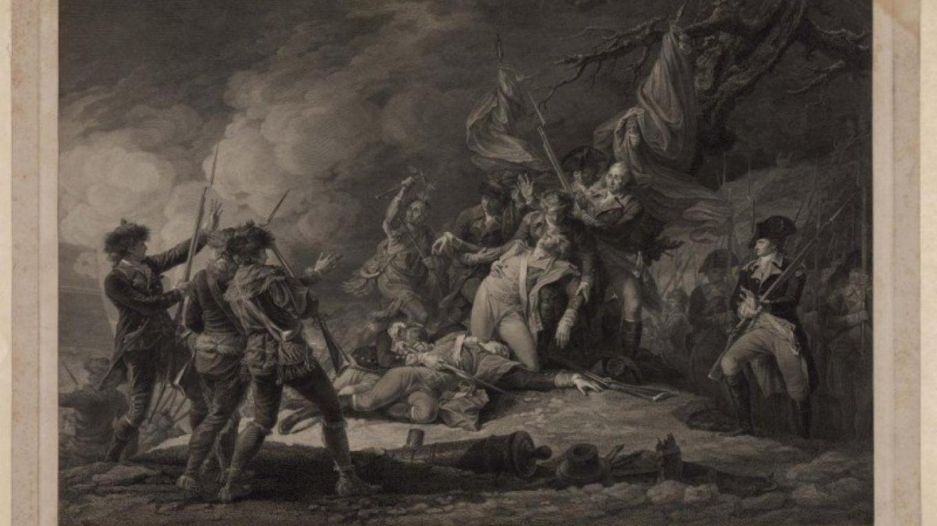 The Death of General Montgomery by John Trumbull – Library of Congress