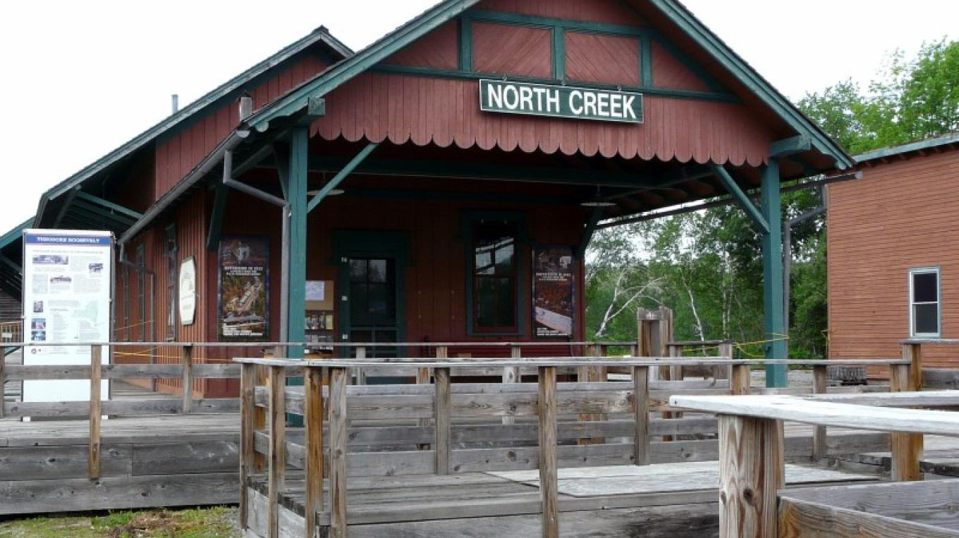 North Creek Depot looking the same as it did over 140 years ago. – Patricia Walsh, Scotia, NY